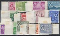 Mauritius QEII 1953 Set To 10 Rupees SG291/306 MNH (Hinge On Margins) J8056