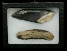 AUTHENTIC PALEOLITHIC SCRAPING TOOLS IN DISPLAY FRAME