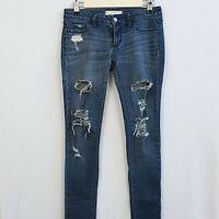 BULLHEAD by PACsun sz 3 Destroyed Dark Wash Denim Legging Skinny Jeans Women's
