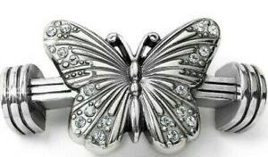 NWT Brighton Color Clique Cord SOLSTICE Butterfly Silver Ornament MSRP $38