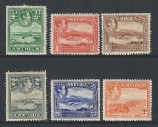 Antigua - 1938, 1/2d - 3d short set (6 values) - M/M - SG 98/103