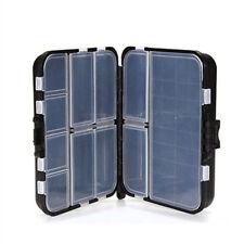 New Schwarz PP-Kunststoffbox Kleinteilebox Black Edition Ideal für Angelzubehör