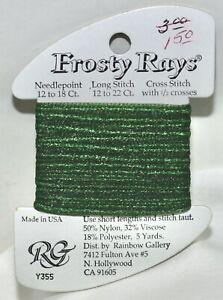 Rainbow Gallery Frosty Rays polyester/nylon/viscose yds Y355 green