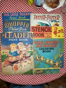 Group of Vintage paint and activity books, Blondie + others. Mix of used/unused