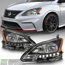 [Black Edition] For 2013 2014 2015 Sentra Headlights Headlamps 13-15 Left+Right