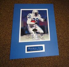 Marshall Faulk Colts HOF 1997 Leaf 8x10 photo AUTO matted nameplate.