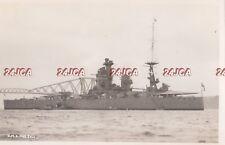 "Royal Navy Real Photo. HMS ""Nelson"" Battleship. Main armament of 16"" guns. 1938"