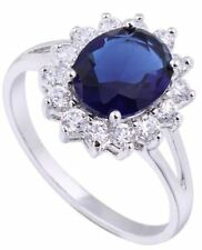Blue Oval Costume Rings