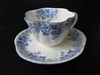 SHELLEY Dainty Blue Daisy Rose Fine Bone China Tea Cup & Saucer RARE!!!!
