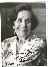 JARMILA NOVOTNA opera soprano signed photo
