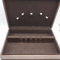 Vintage Wood Silverware Flatware Case