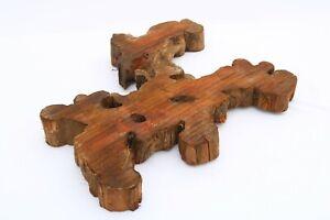 Brasiletta Epoxy Exotic Natural Live Edge Wood Tree Slice Slab Lumber 2x11x16