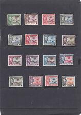 GAMBIA 1938 KING GEORGE VI & ELEPHANTS SET OF 16 SG.150-161 MVLM & MNH