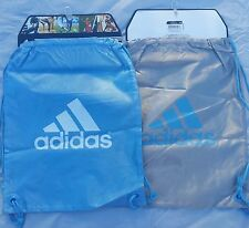 Adidas Shoe Bag Soccer Football Backpack SACK Gym Blue/Gray Sports Sack Bags