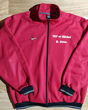 Nike 90's Vintage Mens Tracksuit Top Jacket Red TSV 07 Höchst Soccer Football