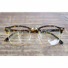 1920s Vintage Classic oliver retro eyeglasses 07E10 Leopard frames kpop eyewear