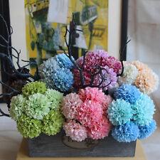 Artificial 5-heads Flower Peony Silk Hydrangea Home Wedding Garden Decoration