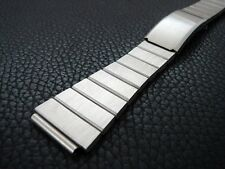 Men's Vintage, Heavy 19mm Brushed Stainless Steel Adjustable Watch Band