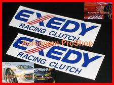 """2x 8.5"""" 21.6cm EXEDY Racing Clutch Decal Sticker JDM GT-R WRX EVO S15 civic 370z"""