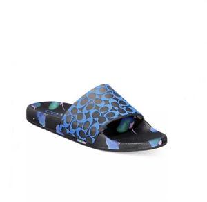 Coach Udele Sport Slide Sandals Floral Women's Shoes 9 Multicolor Black New NIB