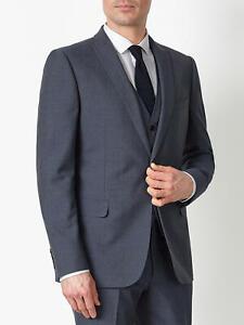 Kin Newick Panama Weave Slim Fit Suit Jacket, Light Blue - BNWT UK SIze 36S £119