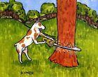 PIT BULL TERRIER LUMBERJACK picture DOG ART PRINT 8x10  gifts