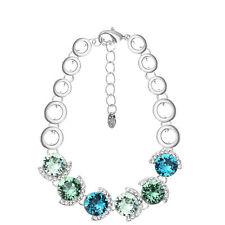 New Sparkly Green Blue Austria Crystal Rhinestone Tennis Bracelet Bangle Jewelry