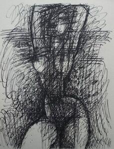 Marcel GROMAIRE : Jolie muse debout et nue - GRAVURE en noir #1952 + certificat