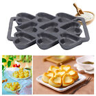 9-Cup Cast Iron Heart Shaped Non-Stick Baking Pan Muffin Biscuits For Gas Oven