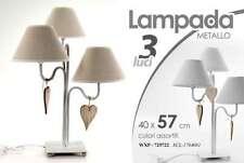 LAMPADA METALLO H57*40 CM DA TAVOLO COMODINO LUMETTO ABAT JOUR CUORI WXP 725722
