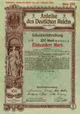 DEUTSCHES Reich 1916 Berlin Adler Germania 100 Mark DEKO Historische Wertpapiere