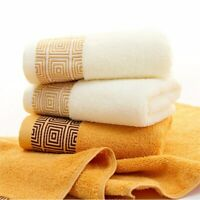 Soft Bamboo Fiber Face Towel for Adults Thick Super Absorbent Towel Home Supply