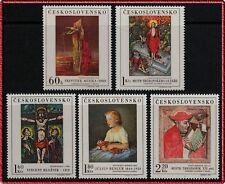 TCHECOSLOVAQUIE N°1756//1760** Tableaux, 1969 CZECHOSLOVAKIA Paintings MNH