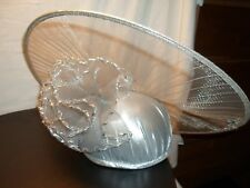 New listing Stunning Vintage Ladies Silver Hat with Hat Box Doeskin