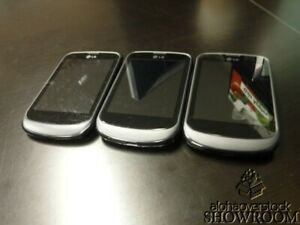 Lot of 3 - Used & Untested - LG 306G (TracFone) For Use Of Parts Or Repairs Only