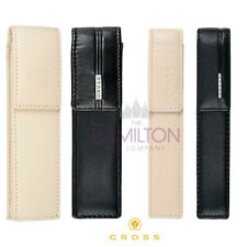 CROSS LEATHER PEN CASE for 1 or 2 pens - available in 2 colours