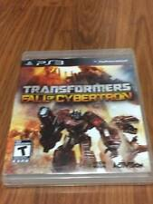 Transformers: Fall of Cybertron (Sony PlayStation 3, 2012) Missing Manual!