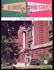 1965 Illinois v Ohio State Football Program 10/9/65 Ex 3801