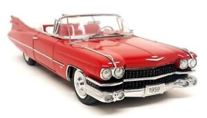 Danbury Mint 1/24 Scale - 1959 Cadillac Series 62 Convertible Diecast Model Car
