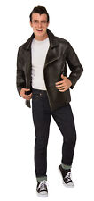 Men's Grease T-Birds Jacket 50's Faux Leather Greaser Jacket Size XLarge