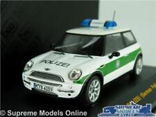 MINI COOPER MODEL POLICE CAR 2002 1:43 SCALE MOC057 POLIZEI GERMANY BMW IXO K8