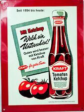 """Kraft, Blechschild, Werbeschild, Tomatenketchup """"Unterschied"""" rot, 40 x 30"""