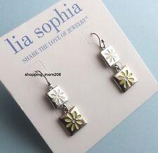 """Lia Sophia """"Sun Kissed"""" Silvertone Earrings"""