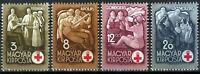 DR Hungary Nazi Rare WWII Stamp 1942 Red Cross War Scenes Soldiers Legion Magyar