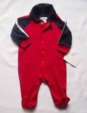 NEW Ralph Lauren Boys Christmas Red Romper Baby Grow Suit 0-3m