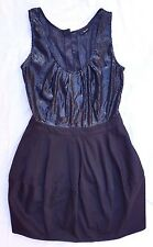 EX CON Bardot Size 10 LBD Black Dress Sequin Mini Sleeveless Party Event Evening