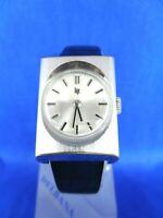 VINTAGE Montre Watch Uhr LIP 307275 Mécanique 013610230 SILBER BRACELET CUIR