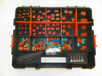 678 PC BLACK DEUTSCH DT CONNECTOR KIT STAMPED CONTACTS + REMOVAL TOOLS
