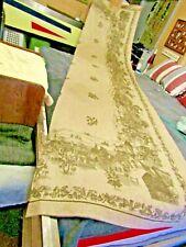 Vintage HUGE  Russian Cotton Tablecloth 11.5 ft x 5.33 ft/ZINA VASI Christmas