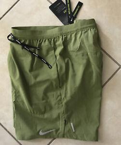 "$55 Nike Flex Stride Men 7""Brief-Lined Running Shorts Green Reflective CJ5459 M"